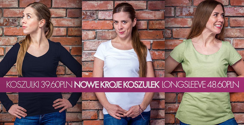 Nowe kroje koszulek damskich - slim fit i oversized!
