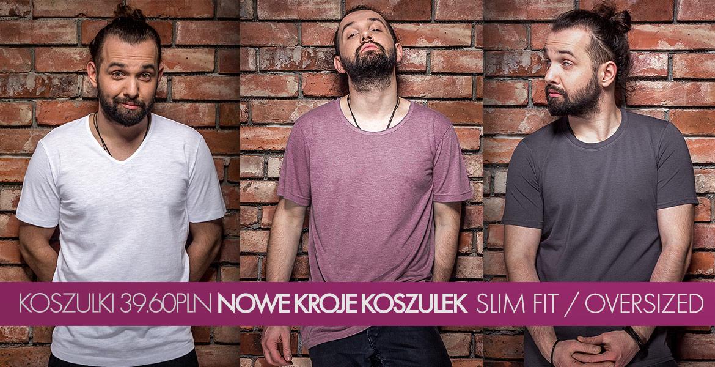Nowe kroje koszulek męskich w t-shirt.pl